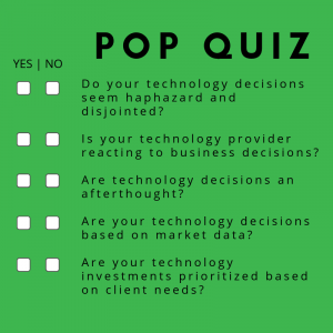 IT Roadmap Pop Quiz